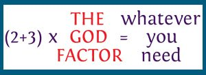 "equation using ""the God Factor"""