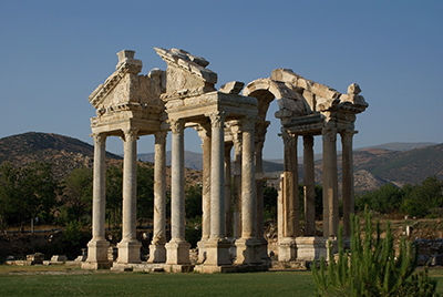 ruins of Aphrodite's temple in Turkey