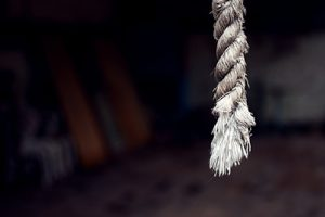 dangling end of a rope