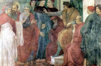 painting of Peter and Paul with Nero