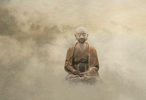 buddha statue in mist