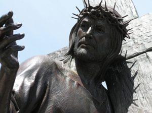 figure of Jesus carrying the cross