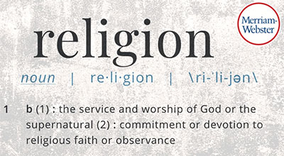 """dictionary entry for """"religion"""""""