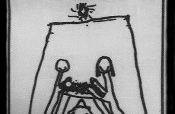 child's drawing of the nativity