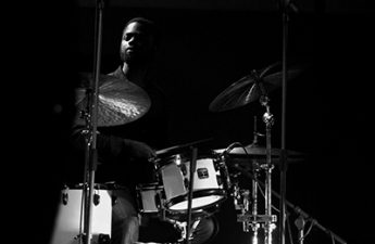 African-American drummer