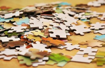 scattered puzzle pieces