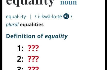 dictionary entry of the word equality