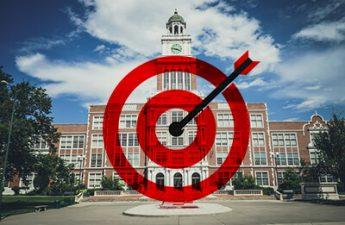 schoo with bullseye target on it