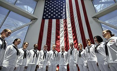 US Navy choir